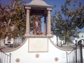 Imagen de la fuente en la actualidad con el nuevo San Antón
