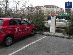 Elektro Tankstelle von Eon in Unterschleißheim E auto i3 i8 Ampers Tesla e up Elektroauto