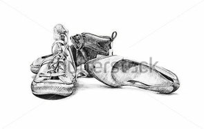http://pic.azimage.com/photos/premium/previews/143/hand-drawn-sketch-of-old-worn-shoes-vintage-tennis-canvas-style-fashion-ladies-shoes-saddle-sports-running-high-tops-shoes_143946886.jpg