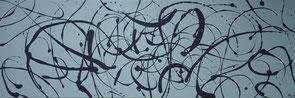 """""""Der große Jackson"""", 2018, Acryl- und Dispersionsfarbe auf Leinwand, 150x50cm, VERKAUFT   -   (c) Atelier Anne Sänger"""