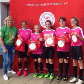 (Foto HFV) Siegerteam Powergirls: Lolo, Finja, Anna, Milena, Katharina