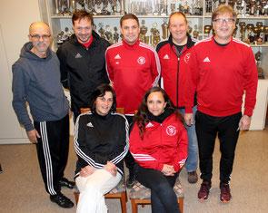(oben von links) Peter Antschischkin, MIchael Eckert, Steffen Becker, Karl-Otto Mank, Ralph Wiederstein (unten von links) Susi Wilhelm, Nikol Gröning
