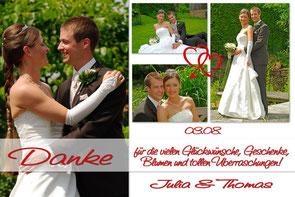 Dankeskarten Hochzeit Danksagungskarten Trauung