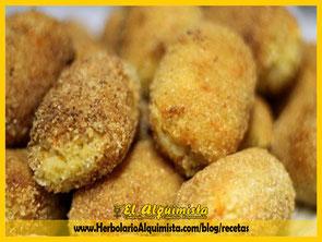 Croquetas de quinoa y boletus Herbolario Alquimista Arrecife