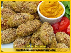 Croquetas de quinoa y boletus Herbolario Alquimista Arrecife Lanzarote