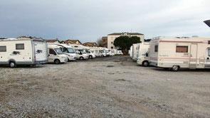 Il grande parcheggio in Via Tritone a Cervia
