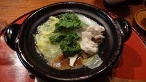 美山の地鶏鍋。