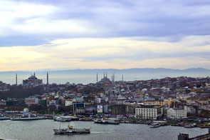 Goldenes Horn in Istanbul.