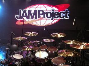 Hideki's drums on JAM Project