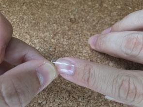 爪のサイズを合わせます