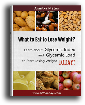 Free ebook: What to eat to lose weight? Learn about glycemic index and glycemic load to start losing weight today!
