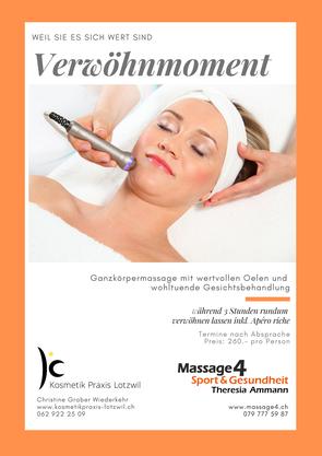Verwöhnmoment, Massage und Kosmetik geniessen
