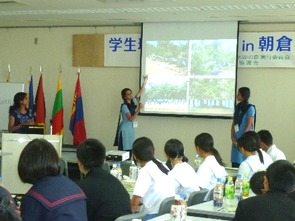 Indian Goodwill Ambassadors reporting on school forest development