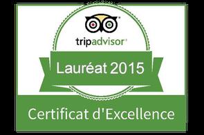 Hameau des Baux Lauréat 2015 du certificat d'excellence Trip Advisor