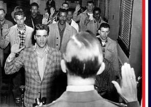 Elvis Presley sworn into U.S. Army
