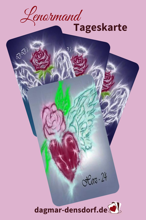 Lenormandtageskarte Herz aus D.D.'s Engel Lenormand