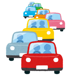 年末の高速道路渋滞のイメージ