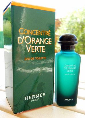 CONCENTRE D'ORANGE VERTE : EAU DE TOILETTE  - MINIATURE EN VERRE DEPOLI - 2006