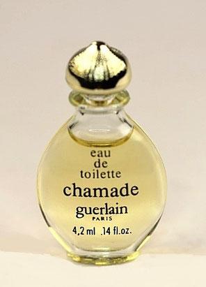 """CHAMADE - MINIATURE """"GOUTTE"""" - EAU DE TOILETTE 4,2 ML - BOUCHON DORE"""