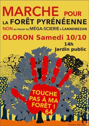 Manifestation contre le projet Florian pour le Département 64 à Oloron-Sainte-Marie -par ACCOB