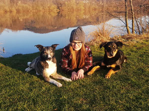 Julia mit Nala und Lennox