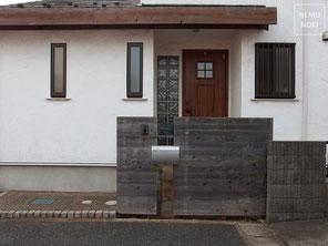 ウッドフェンス、目隠しフェンス、門塀、施工例
