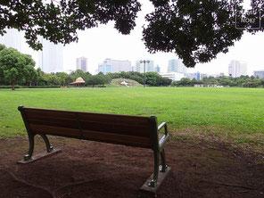 公園、ベンチ、施工例