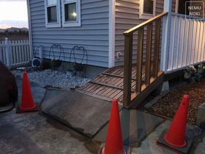 イタウバ、人工芝、立水栓、施工例