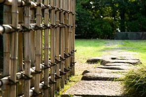 受け継がれてきた竹垣の技術