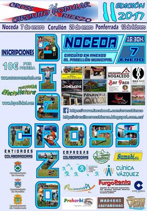 II CROSS NOCEDA DEL BIERZO - II CIRCUITO POPULAR CROSS BIERZO - Noceda, 07-01-17