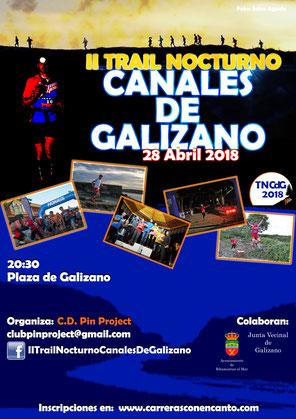 II TRAIL NOCTURNO CANALES DE GALIZANO - Galizano, 28-04-2018