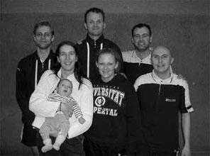 2.Mannschaft v.l.: Martin Raulfs, Nicole Zoltek mit Matti, Christian Bauer, Miriam Ziegner, Andreas Rottmann und Karsten Jörgens