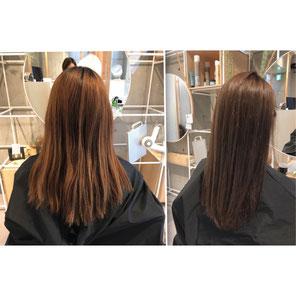 横浜 石川町 美容室 Grantus セミロング ロングスタイル ハーブカラー 髪質改善 髪艶 髪ツヤ サラサラ