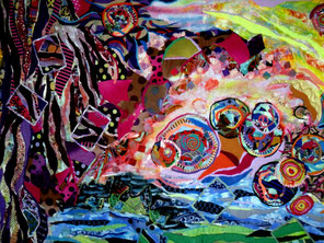 Detail from Primordial Planets - Click on Image to Enlarge