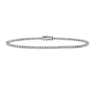 Bracciali Tennis In Oro Bianco rombo con Diamanti Gioielli Comete da Donna - prezzi scontati
