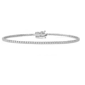 Bracciale Tennis da donna gioielli comete in oro bianco con diamanti BRT291