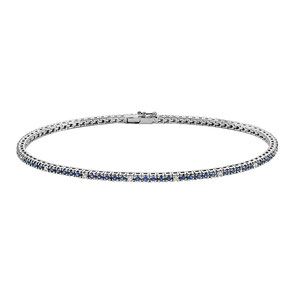 Bracciale Tennis da donna gioielli comete in oro bianco con diamanti BRT303 Prezzi Scontati su Istanti di Gioia