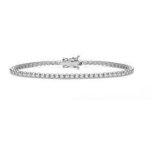 Bracciale Tennis In Oro 18 Carati Bianco Con Diamanti  di comete gioielli - prezzi sconti outlet -Istanti di Gioia