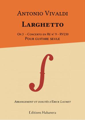 Partition Guitare Classique Antonio Vivaldi Larguetto