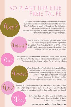 Die Planung einer Freien Taufe mit Taufrednerin Traurednerin Kira Nothelfer Berlin Brandenburg