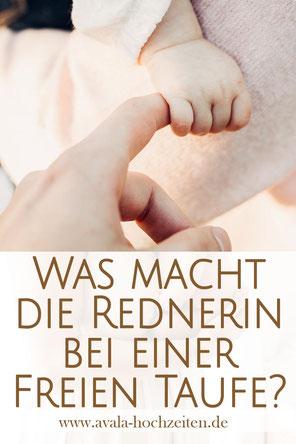 Die Aufgaben einer Rednerin bei der Freien Taufe - Taufrednerin Traurednerin Kira Nothelfer Berlin Brandenburg