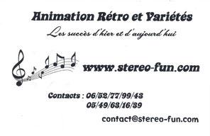 Carte VERSO Stéréo-Fun