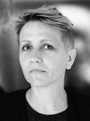 Schwarz Weiß Portrait von Johanna Faust
