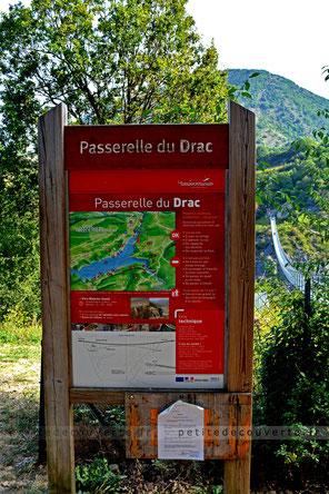 randonnée, passerelle du Drac, Lac de Monteynard Avignonet, isère
