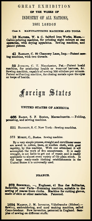 extract from the Official Catalogue