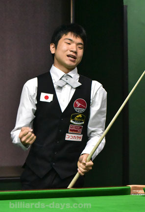 Keishin Kamihashi won 16th All Japan Snooker Championship