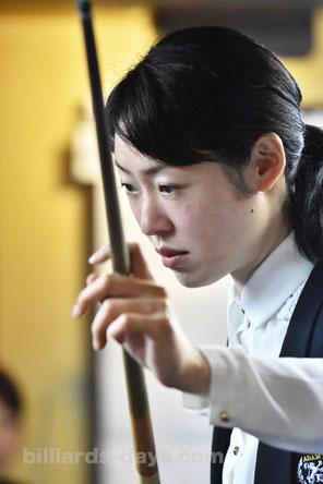 Orie Hida won 2016 Ladies 3-Cushion ADAM EMERALD Cup in Tokyo ※この写真は今年1月のもの