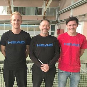 Das Trainerteam der Tennisschule Max Ludin in Lörrach