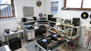 Arbeitsplatz in der HiFi Werkstatt