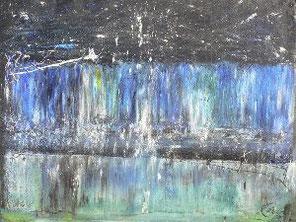 Wasser 2 , Pastell auf Papier, 50 x 70 cm, 2007